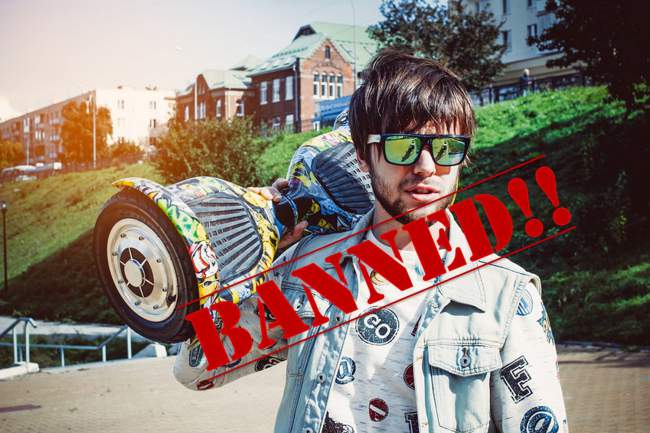 Where are Hoverboards Banned? [Sidewalks? Colleges? Malls?]