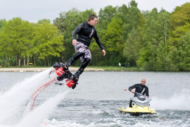 Riding a Flyboard