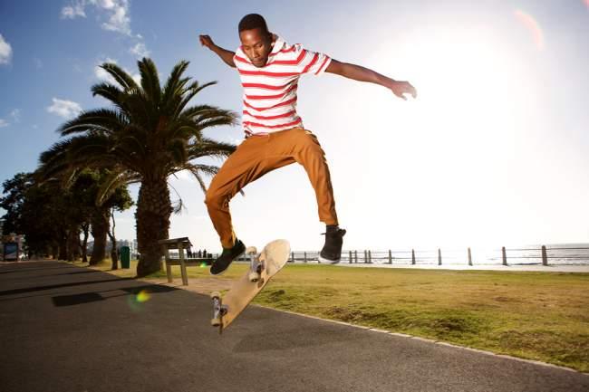 Electric Skateboard Trick