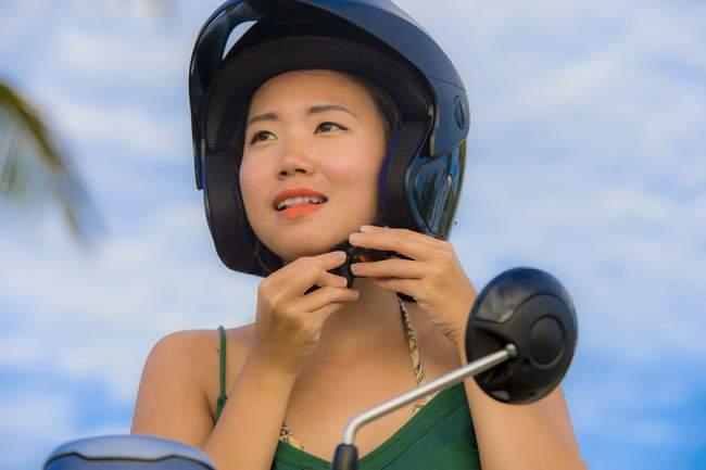 wear a helmet when riding a scooter