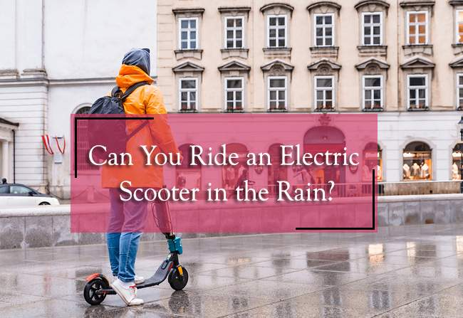 can you ride an electric scooter in the rain