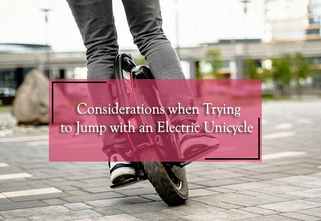 jump with an electric unicycle